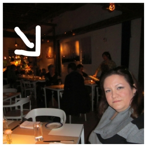 A picture of Jen with Elizabeth Falkner in the background!