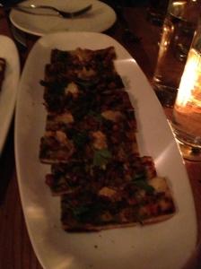 Wild Mushroom Pizzetta-roasted garlic-green peppercorn puree, robiola