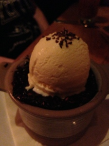 Molten Chocolate Bread Pudding-hazelnut ice cream