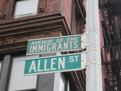 Allen Street, Avenue of the Immigrants