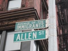Allen Street, Avenue of the Immigrants