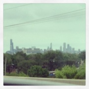 the one big city we drove through in the entire country--Chicago