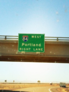 First sign to Portland!
